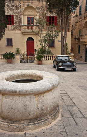Yard in the Old City of Mdina, Malta Stock Photo