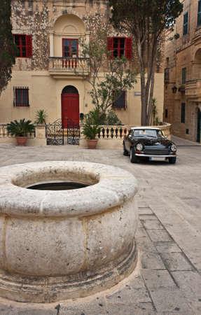 Yard in the Old City of Mdina, Malta Stock Photo
