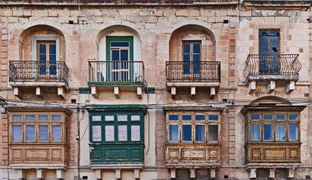 Traditional Maltese balcony, Valletta, Malta