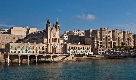 Balluta Bay, St. Julians, Malta Stock Photo