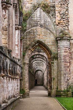 abbey ruins abbey: Fountains Abbey ruins