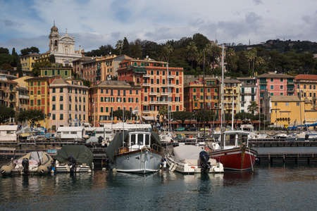 Santa Margherita Ligure, fisherman  commune and tourist resort in the province of Genoa, Liguria, Italy