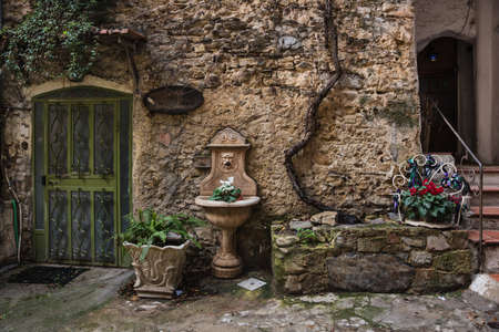 italian village: Bussana Vecchia  Old Bussana , a medieval ghost town in Liguria, near Sanremo, Italy, Now is the International Artists Village