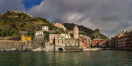Marina in Vernazza, a fishing village and comune in the province of La Spezia in the Liguria region of Italy  It is the one of the Cinque Terre villages