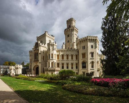 Hluboka nad Vltavou castle, Bohemia, Czech Republic Editorial