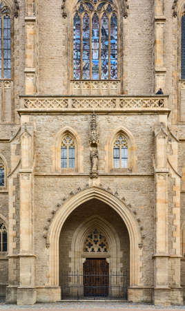 Saint Barbara s Church facade door, Kutna Hora, Bohemia, Czech Republic