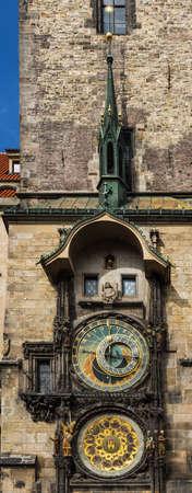 Medieval Prague astronomical clock, Old Town City Hall, Prague, Czech Republic