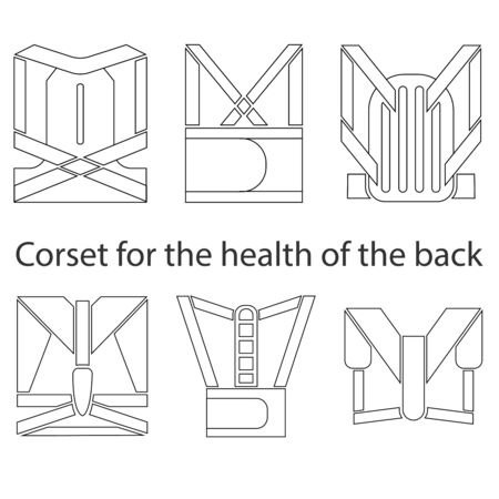 Medical corset for posture healthy back.