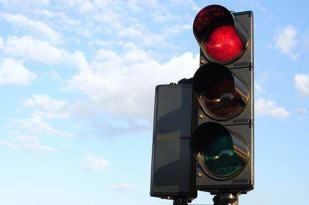 Traffic light. Stop. Stock Photo - 4286600