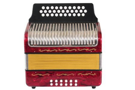 Red Accordion. Stock Photo - 4305646