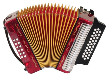 Red Accordion. photo