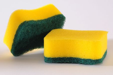 disinfect: None scratching sponge. Stock Photo