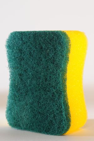 none: None scratching sponge. Stock Photo