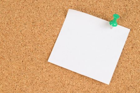 Cork board. See more... Stock Photo - 4310574