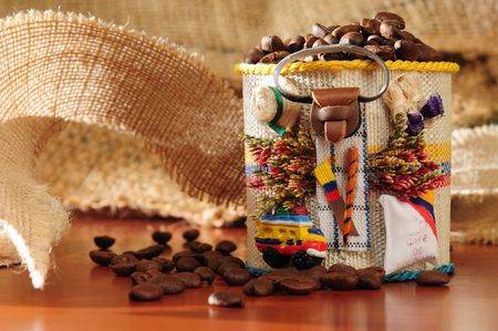Colombian Coffee. Series.. Stock Photo