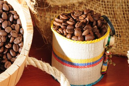 colombian food: Colombian Coffee. Series.. Stock Photo