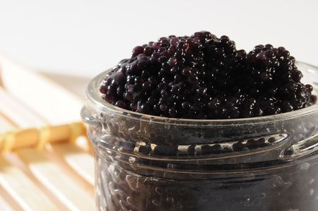 Black caviar. photo