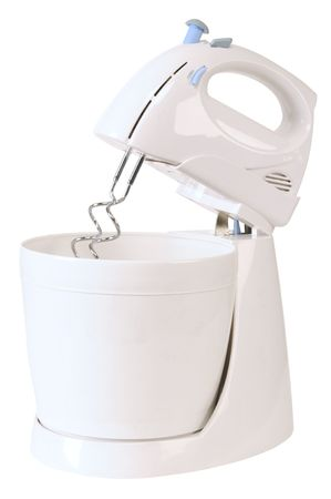 producing: Mixer on white. Stock Photo