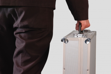 road warrior: Carrying case.                                 Stock Photo