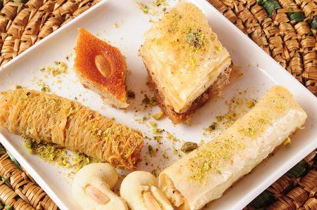 baklawa: Arabic sweets.