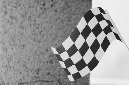 Black and white flag. Stock Photo - 4537486