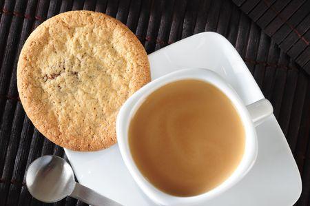 tea and biscuits: Breakfast.