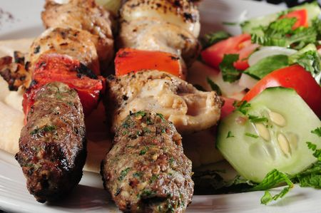 Mixed shish kebab.