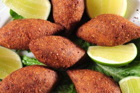 lebanese food: Stuffed Kibe.