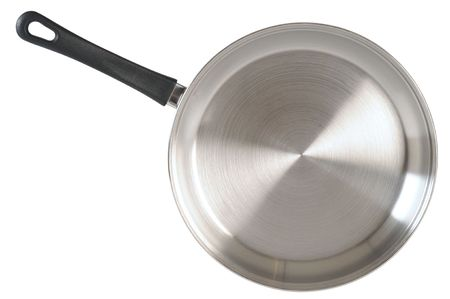 stainless steel pot: Frying pan.