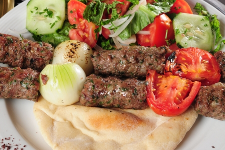 ethnic mix: Shish kebab.