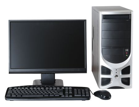 Desktop computer. photo