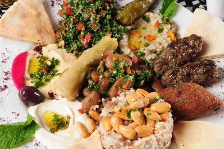 prepared food: Variety of arabic food.