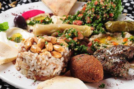 comida arabe: Mezcla de placa.