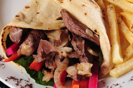 gyros: Gyros sandwich.