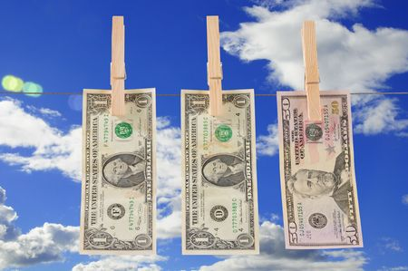 cleaning debt: Drying money.