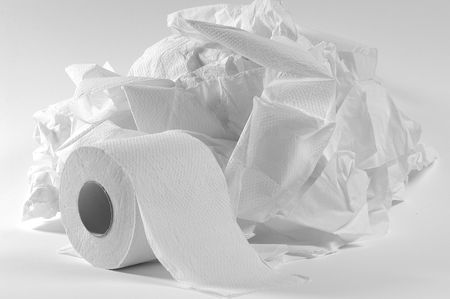rolled paper: Toilet paper.