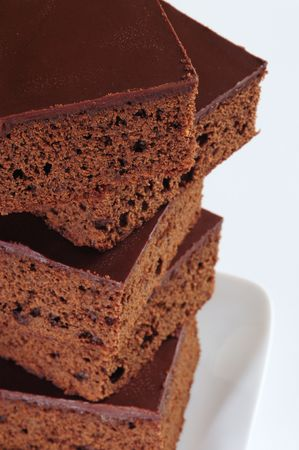 overlapped: Brownie tower.