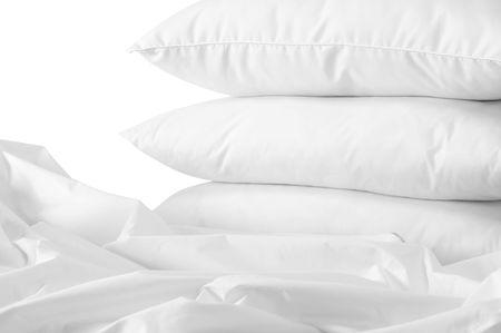 overlapped: Triple pillows.