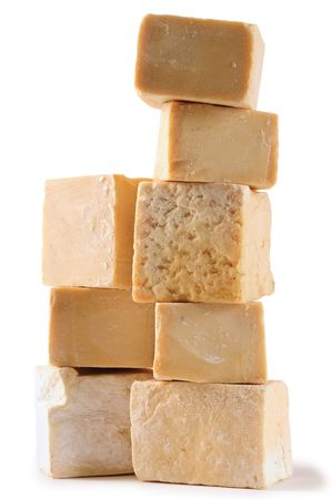 soap suds: Homemade soap. path. Stock Photo