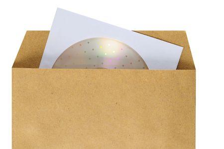manila envelop: Package.  Stock Photo