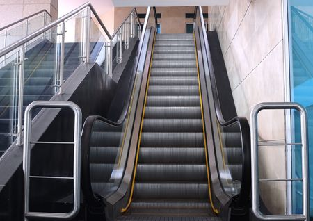 Escalator and stairs. Stock Photo - 4848999