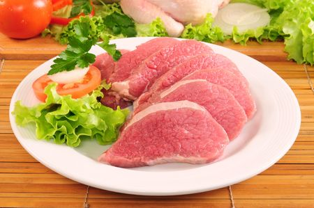Slices of raw meat Stock Photo - 5109927