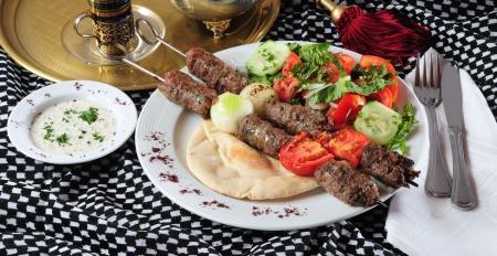 pita: Shish kebab.