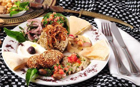 Vegetarian food. photo