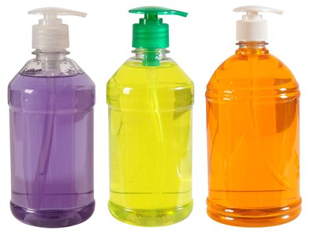 Three soap bottles. Stock Photo - 5175756