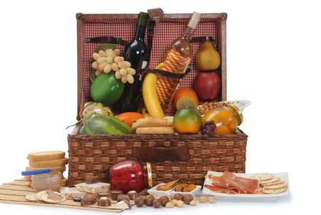 Basket full of food. Stock Photo - 5175787