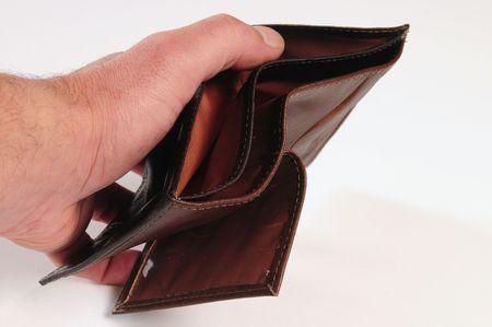 empty wallet: Empty wallet. Debt concept.