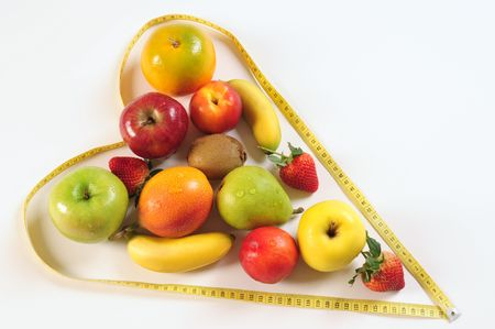 Fruit in a heart shape photo