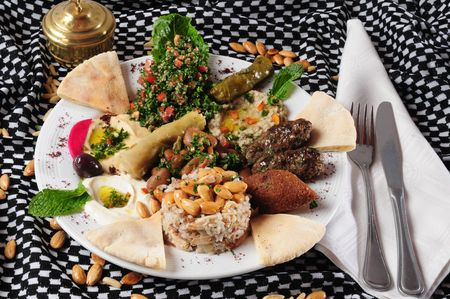 middle eastern: Middle eastern cuisine Stock Photo