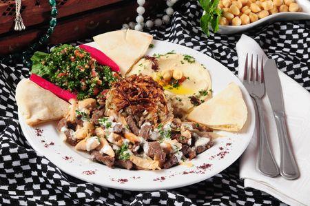 Shawarma plaat Stockfoto
